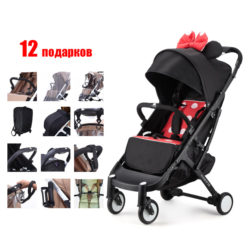 все цены на YOYAPLUS baby strollers ultra-lightweight folding can sit can lie high landscape umbrella baby trolley summer and winter Russia