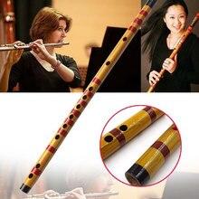 Instrumento musical de bambu de flauta profissional, instrumento musical feito à mão para iniciantes 19ing, 1 peça, 2020