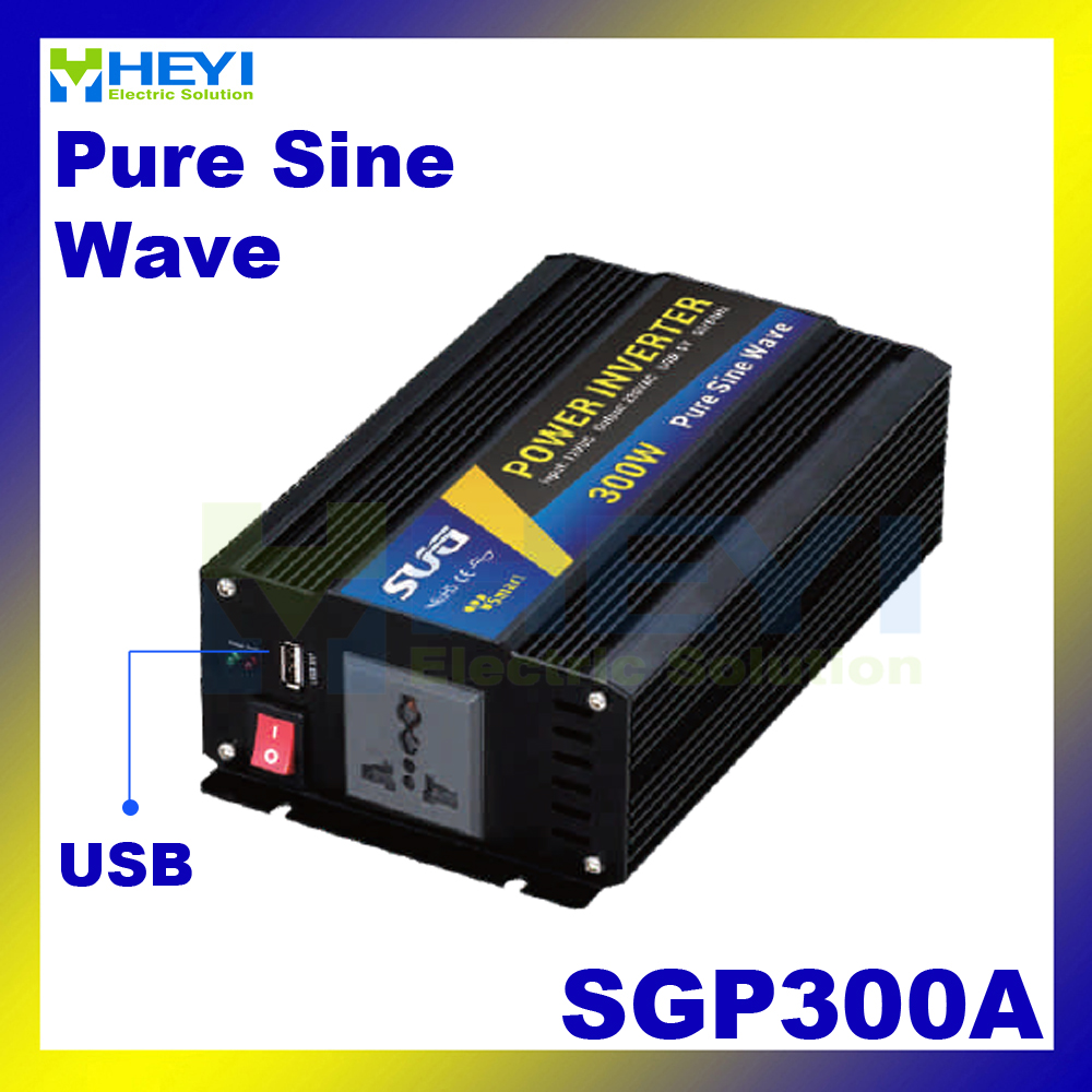 New type Smart Series Pure Sine Wave Inverter 300W with USB input 12VDC 24VDC 48VDC output 110VAC 220VAC solar inverters solar micro inverters ip65 waterproof dc22 50v input to ac output 80 160v 180 260v 300w