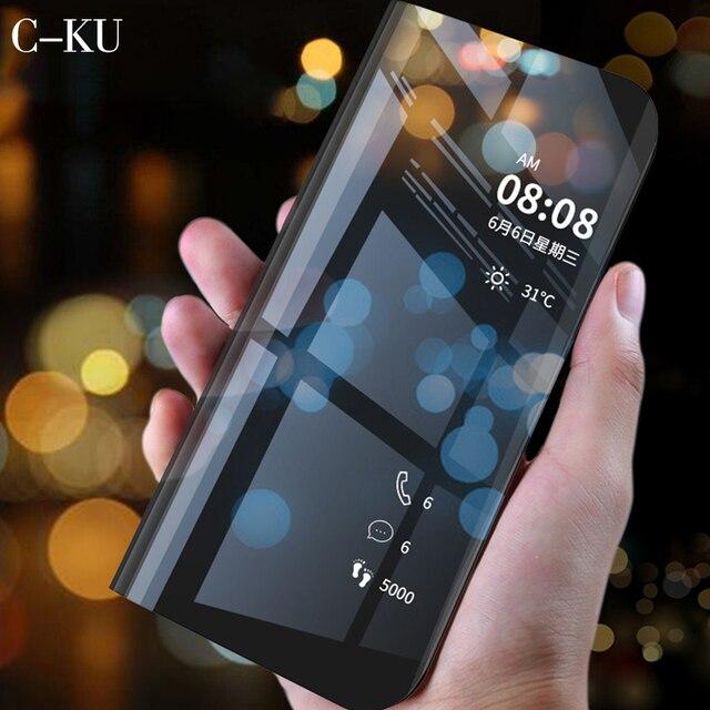 Роскошные подставка Smart View чехол для huawei P20 P10 Коврики 20X10 9 Pro P Смарт плюс Nova 3i 3e Lite Примечание 10 Y6 премьер Y5 Y9 2018