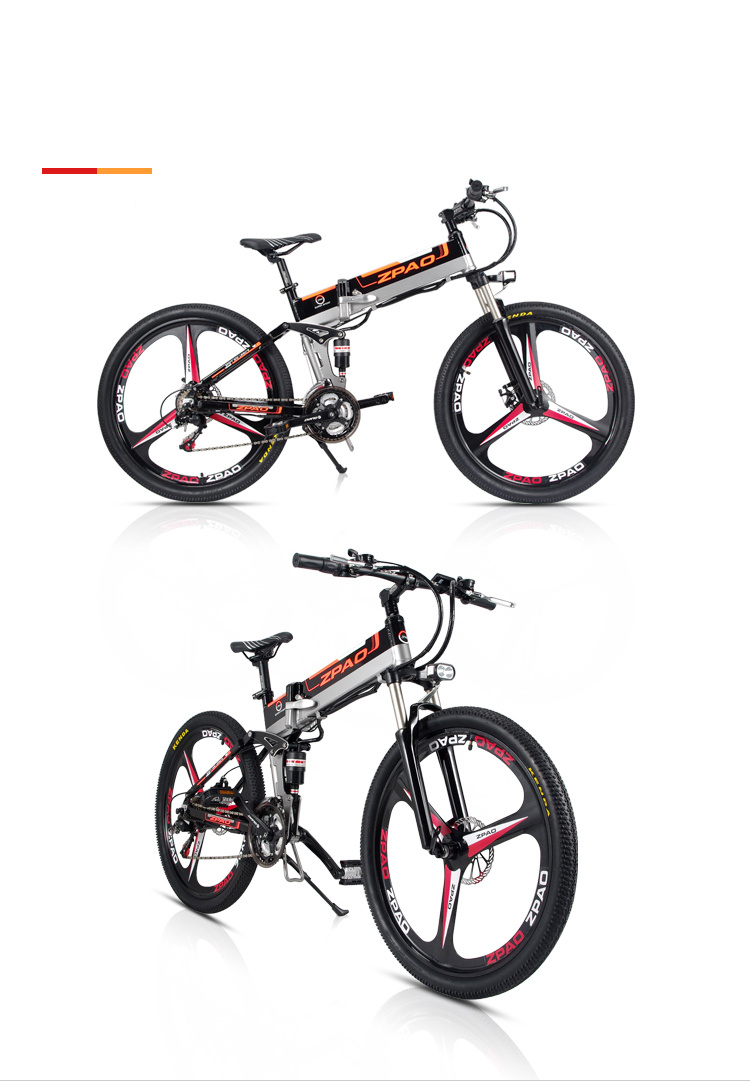 HTB11wosfyqAXuNjy1Xdq6yYcVXaf - 21 Velocity, 26 inches, 48V/15A, 350W, Folding Electrical Bicycle, Mountain Bike, Lithium Battery, Aluminum Alloy Body, Disc Brake.