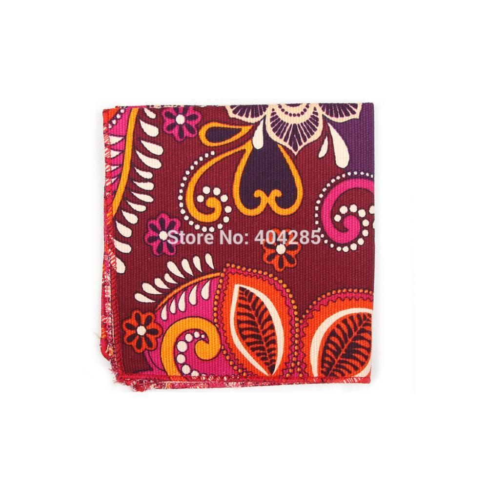HOOYI 2019 Cotton Men's Pocket Square Print Handkerchief 22X22CM