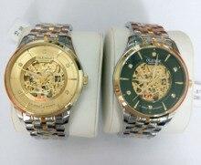 OLENSE 2016 Nuevo Lujo Casual Reloj Hombres Reloj Automático Esquelético de Oro Reloj Mecánico de Negocios de Cristal de Zafiro Hombres Reloj Relj