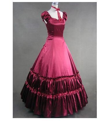 2015 offre spéciale rétro noir/rouge coton sans manches victorien gothique Lolita robe peut être personnalisé