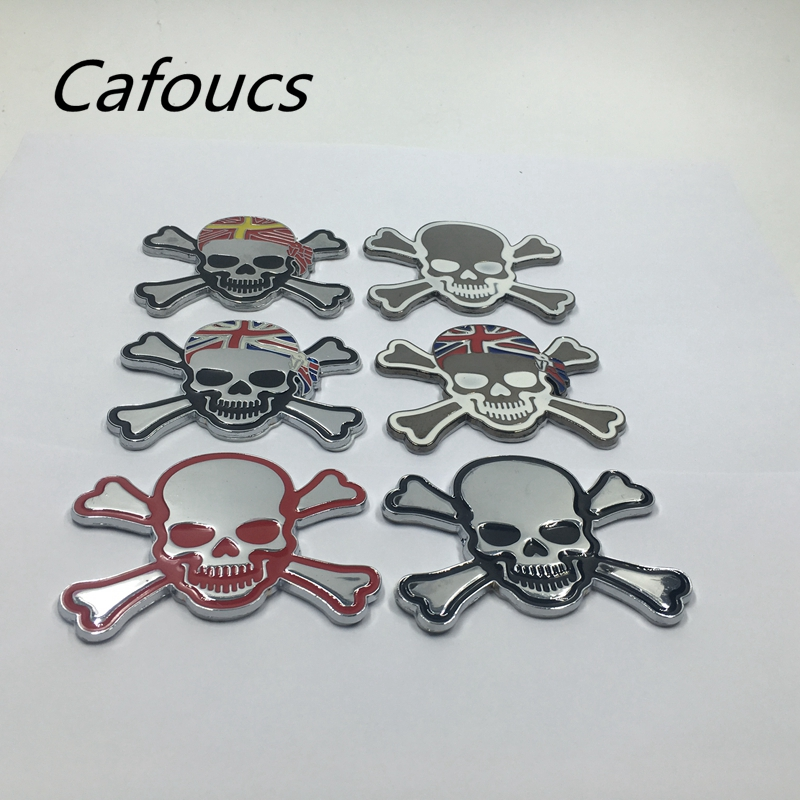 6 Colors Cool Car Emblems Punisher Skull Decor Decal 3d Metal Emblem Sticker Auto Truck Motorcycle Accessories Automobiles