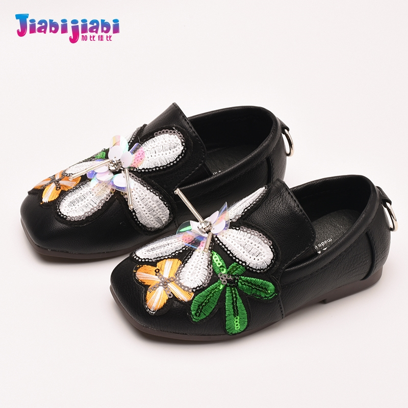 Children Genuine Leather Shoes Baby Girls Toddler Infantil Flats Sandals kids Fragil Princess embroidered Student Single Shoes baby girls princess shoes kids children princess shoes baby girl first walkers flower toddler infant shoe baby kids shoes