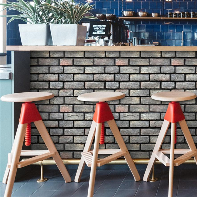 3D Wall Paper Brick Stone Effect Self-adhesive Wall Sticker Room Decor Waterproof Resistant Non-toxic Home Decor C0313#30