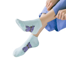 Casual Soft Cotton Socks for Girls 5 Pairs Set