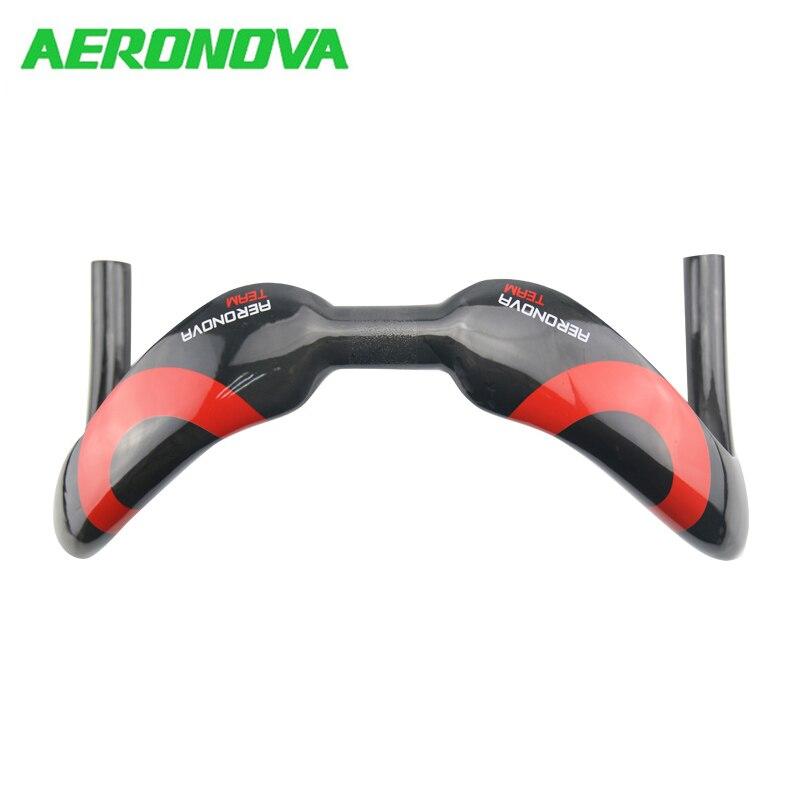 AERONOVA barre de guidon en carbone barre de suspension Sprinter UD brillant 31.8mm 375/385mm course barres trépidantes compétition de piste