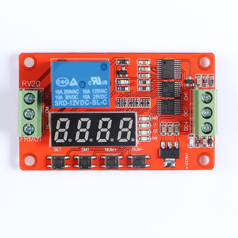 Newer Version 12V Multifunction Relay Cycle Timer Module - Programmable With Customized Settings (Increased To 18 Modes)