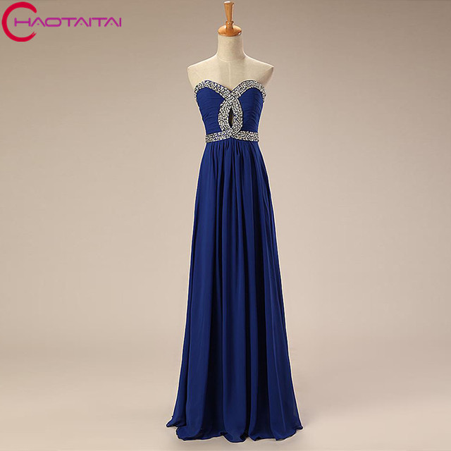 Prom Dresses Cheap Royal Blue Lime Green Turquoise Coral Chiffon ...