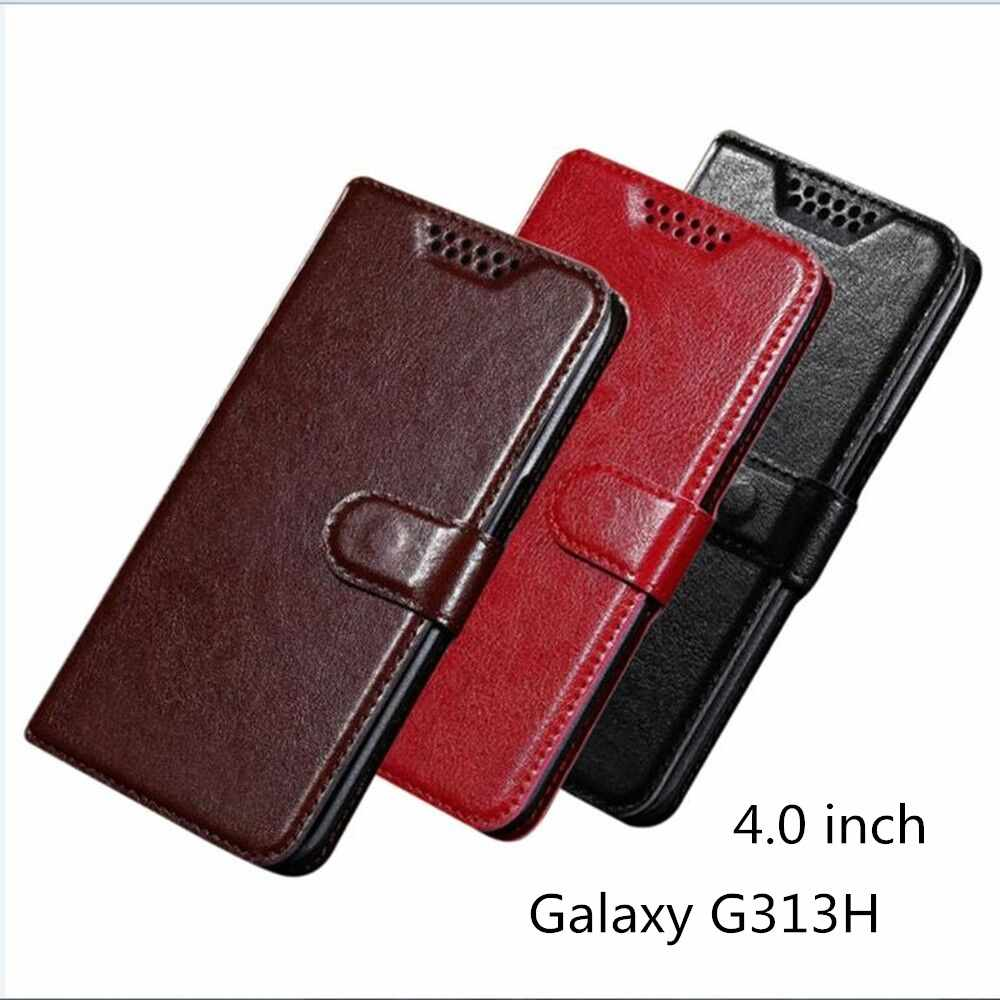 f583516585c Flip PU Leather Case For Samsung Galaxy Ace 4 Lite G313 G313H SM-G313H Ace