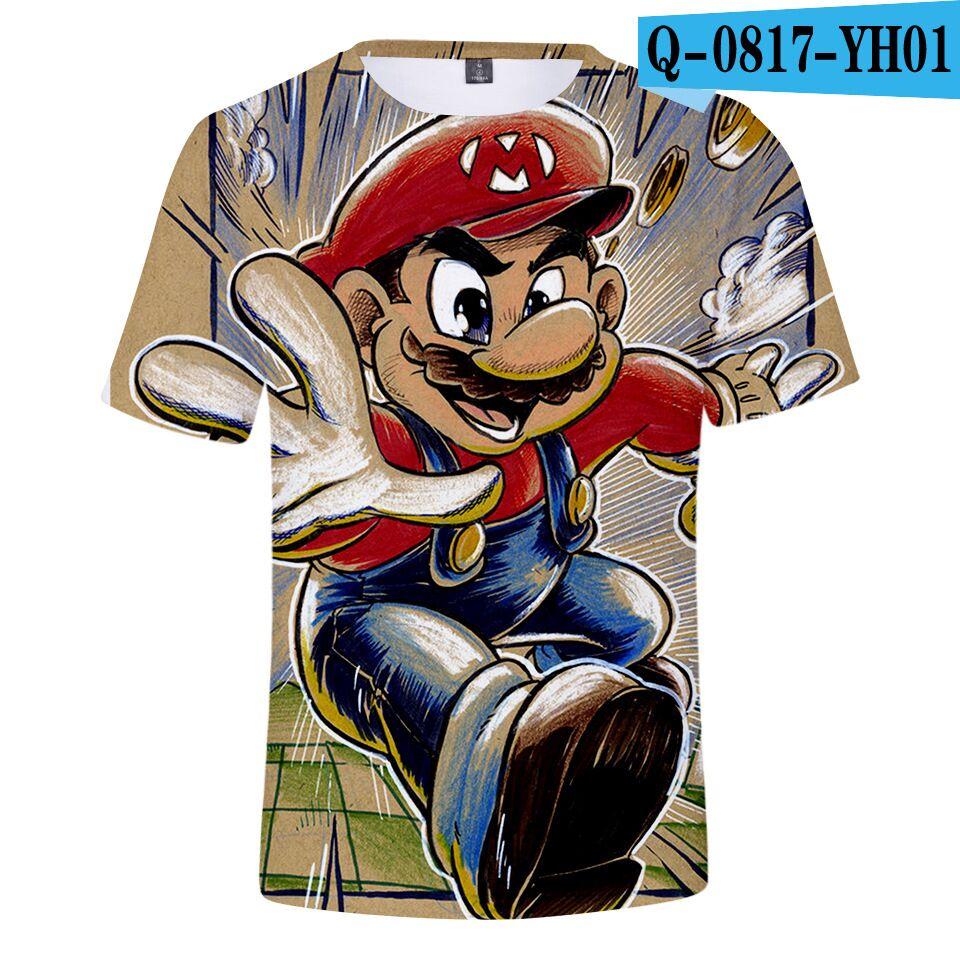 T-Shirt Boy Harajuku Super-Smash Gril Tops Short-Sleeve Brand Bros 3d-Printed