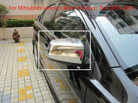 ABS Chrome Rearview mirror cover Trim/Rearview mirror Decoration For Mitsubishi Lancer/Lancer X/Lancer Evo 2010 2013