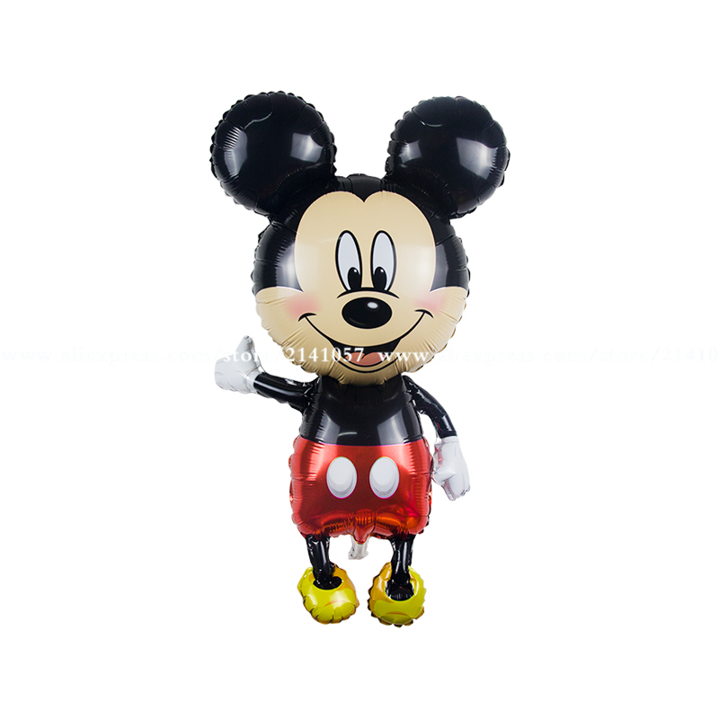 20pc Large size Minnie Mickey foil balloons red Bowknot standing mouse Polka dot wedding birthday party decor supplies globos