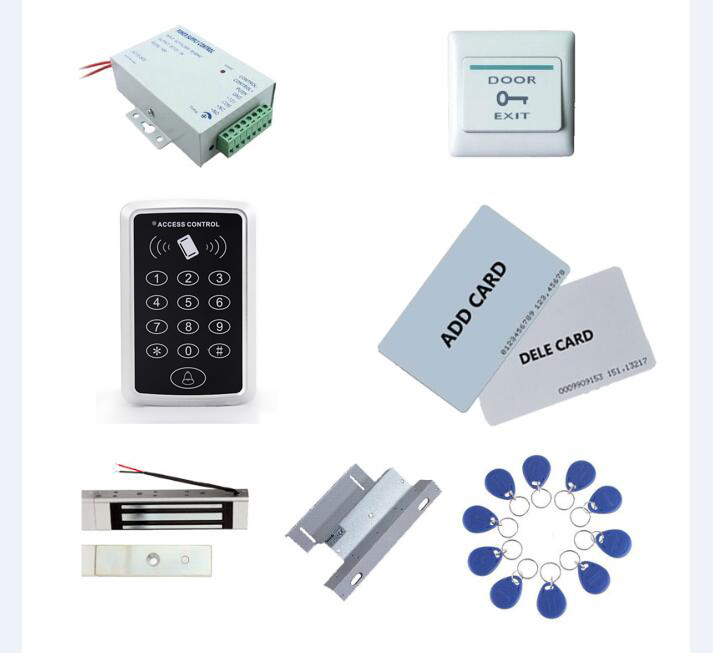 standalone access control kit, power+180kg magnetic lock+180kg ZL-bracket+exit button+2 manage card,10 keyfob ID tags,sn:set-5 manage enterprise knowledge systematically