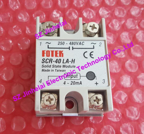 SCR-40LA-H  New and original  FOTEK  Solid state relay  Current type adjusting voltage module ,250-480VAC,4-20mA kind shooting igbt module bsm50gx120dn2 new and original