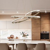 Chrome/Nickel Plated Finish Modern led Chandelier for living room dining room aluminum Chandelier fixtures Free Shipping