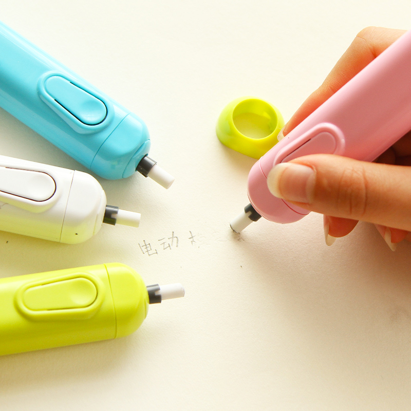 70pcs Auto Electric Battery Operated Pencil Eraser Refills Rubber 5mm 2.3mm