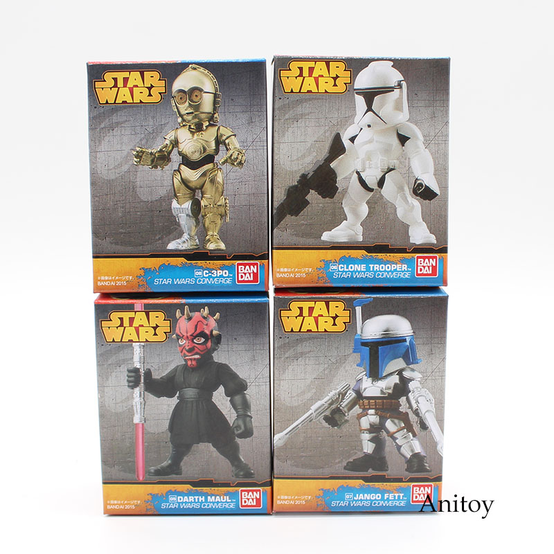 4pcs/<font><b>set</b></font> <font><b>Star</b></font> <font><b>Wars</b></font> 7 The Force Awakens <font><b>Darth</b></font> <font><b>Maul</b></font> Robot PVC Action <font><b>Figure</b></font> Collectible Model Toy 6-8cm KT3753