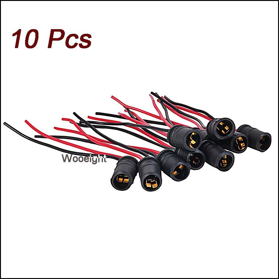uxcell Truck Car Auto T10 W5W LED Bulb Light Wire Harness Adapter 10 Pcs