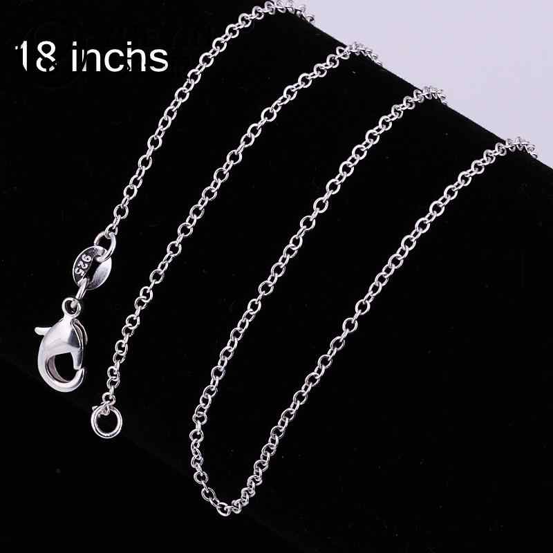 silver plated long chain necklace accessories unisex jewelry for women men C001 snake rope chain