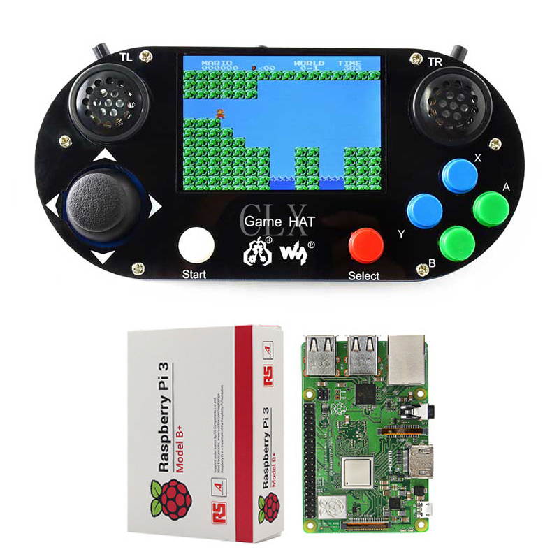 Raspberry Pi 3B Game LCD 3 5inch HDMI LCD Gamepad on board RetroPie with Case and