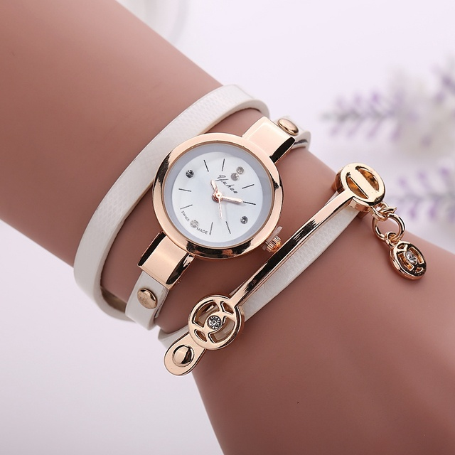 Bracelet Gold Leather Casual Bracelet Watches 1