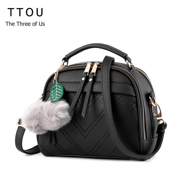 5ce9ed24af65 US $12.07 38% OFF TTOU Women Shoulder Bag Candy Colors Fashion Handbags  Brand Small PU Leather Crossbody Bags For Women Messenger Bag Girl  Zipper-in ...