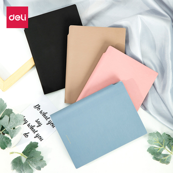 Deli 1PCS Notebook A5 Leather Business Office NOTE BOOK Modilan color Student Supplies Personality Creative Korea Small Fresh creative simple a5 small fresh thick cat color page notebook student hand book soft leather notepad
