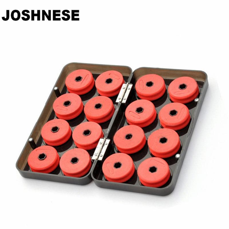 JOSHNESE 16PCS Foam Winding Board Fishing Line Boxes Shaft Bobbin Spools font b Tackle b font
