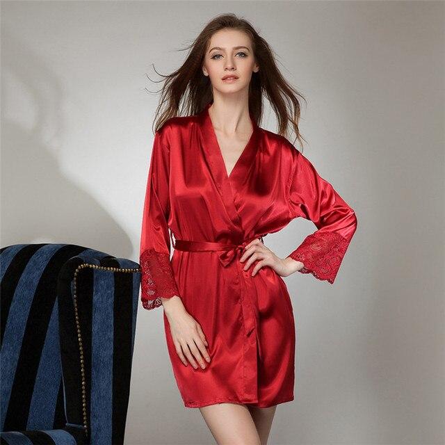 Новые одежды горячая распродажа пижамы шелковый халат черное кружево сексуальная одежда дамы сексуальные пижамы женщин летом шелковый халат действительно racksuit