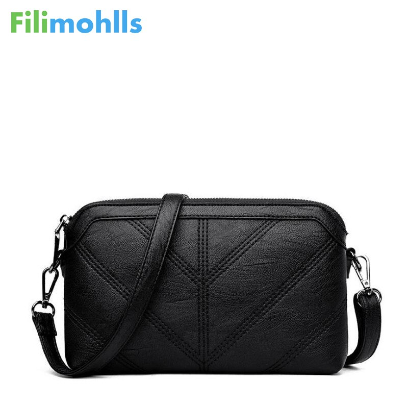 High Quality Shoulder Bags Fashion Black Women Messenger Bags Small Flap Crossbody Hand Clutch Bags Zipper Bag PU Leather S1209 hanup new high quality women clutch bag fashion pu leather handbags flap shoulder bag ladies messenger bags crossbody purse