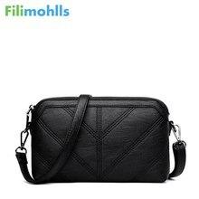Высокое качество сумки на плечо модные черные Для женщин Курьерские сумки небольшой лоскут Кроссбоди руки клатч сумка на молнии из искусственной кожи S1209