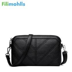 High Quality Shoulder Bags Fashion Black Women Messenger Bags Small Flap Crossbody Hand Clutch Bags Zipper Bag PU Leather S1209