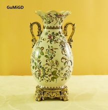 European luxury ceramic  vase ornaments jewelry crafts Home Furnishing living room