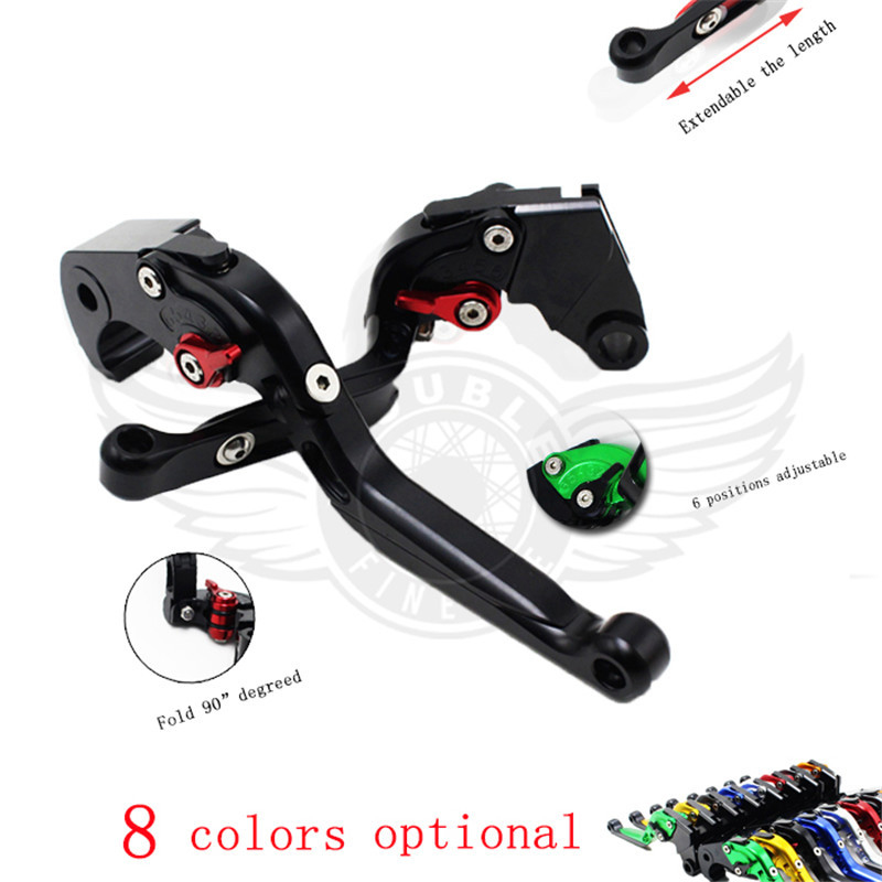 ФОТО CNC Aluminum motocross brake levers adjustable motorcycle brake clutch levers FOR honda VTX1300 2003-2008 NC700 S/X 2012 2013