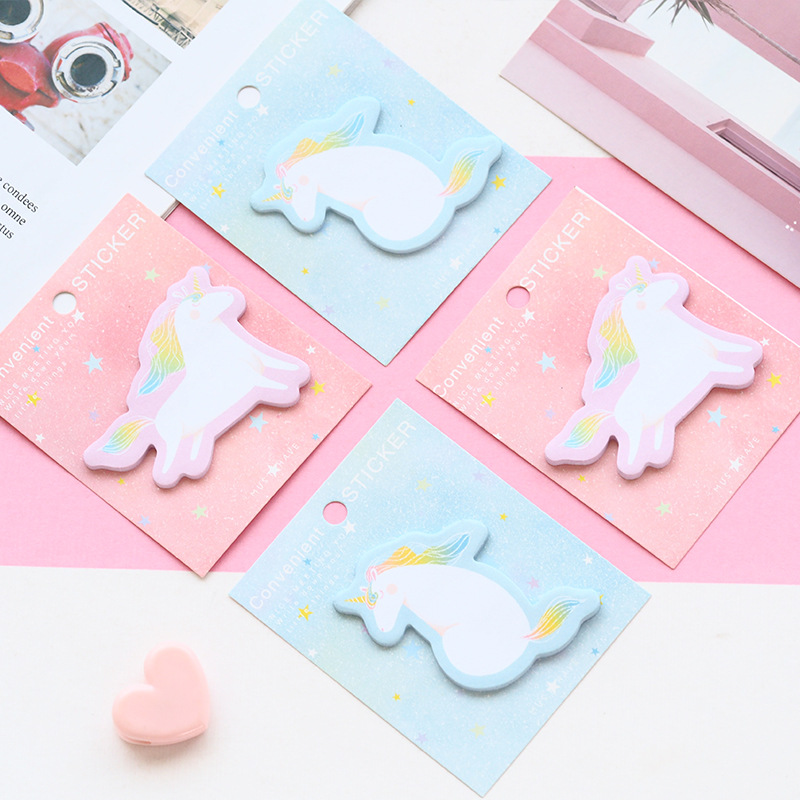 Flying Unicorn Dream Self-Adhesive Memo Pad Sticky Notes Bookmark School Office Supply 2018 pet transparent sticky notes and memo pad self adhesiv memo pad colored post sticker papelaria office school supplies