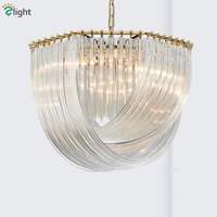 Post Modern Lustre Plate Gold / Chrome Metal Led E14 Pendant Lights Glass Round Luminarias Chain Hanging Lamp Lamparas Fixtures