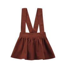 Newborn Baby Girls Dress Kids Brace Dresses Party Cotton Sleeveless Tutu Overalls A-Line Brown  6M-3Y