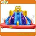 Губка боб водная горка с надувным бассейном, коммерческие вышибалы надувные бесплатная доставка, надувные игрушки, надувные игрушки из пвх