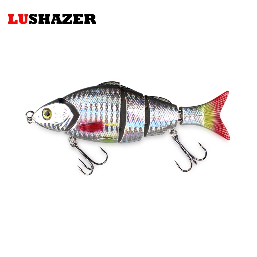 "2PCS Jointed Fishing Lures Swimbait Minnow Pesca Bass Wobbler Plastic 4.9/""//16.2g"