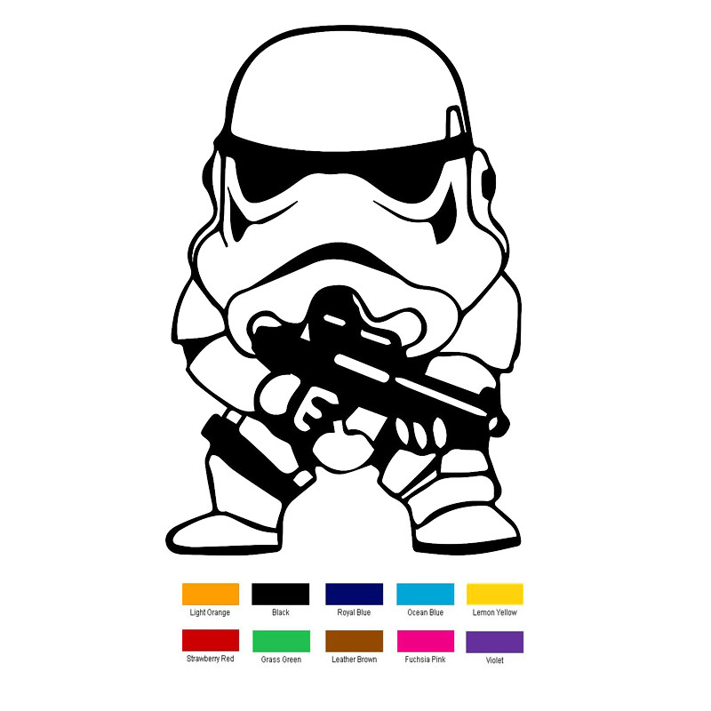 Star Wars Clone Soldier Cute Car Sticker For Truck Window Bumper Auto SUV Door Laptop Kayak horse riding sticker for car rear windshield truck suv bumper auto door laptop kayak canoe art wall die cut vinyl decal 8 colors
