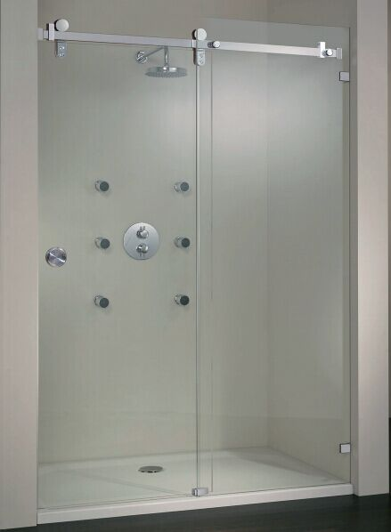 Compare Prices on Frameless Tempered Glass Shower Door Online