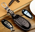 Genuine Leather Smart Remote Key fob Cover Case for SUZUKI Maruti Ciaz Alivio S-cross SX4 Kizashi Swift leather keychain ring