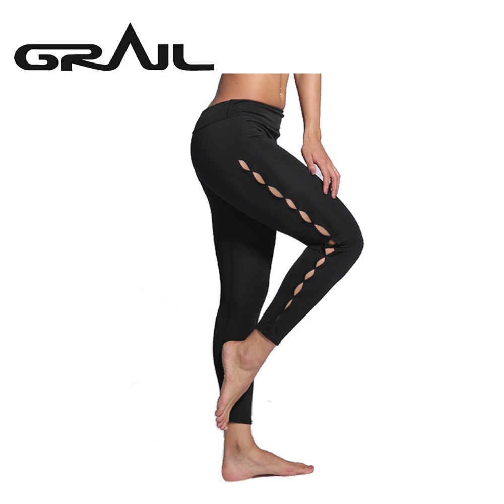 GRAIL femme Fitness Leggings course Sport Yoga pantalon maille Sport collants Leggins Long plein air pantalon Style S12