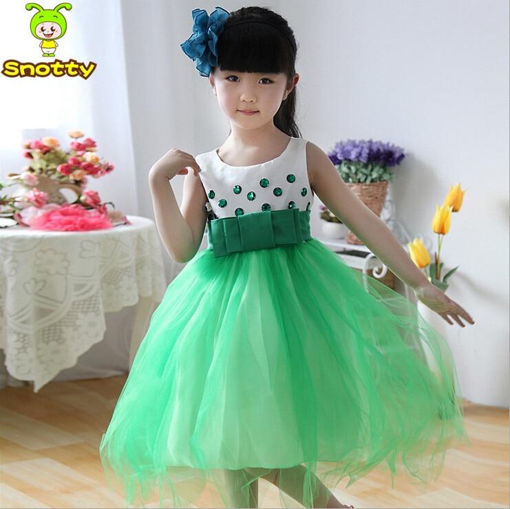 Vestidos de fiesta para nina verde
