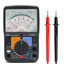 KT8260LDigital аналоговый мультиметр ACV/DCV/DCA/Электрический тестер сопротивления + 2 шт. тестовая ручка для измерительных инструментов