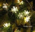 AC220V 5 M 28 LED Luzes Cordas de Fadas luzes de natal Do Floco De Neve ao ar livre quarto Casamento Decoração de interiores para casa de luces navidad