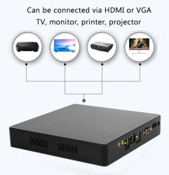 Мини ПК компьютер intel Core i7 i5 i3 J1900 офисный 4K 300M WiFi HDMI VGA USB Gigabit Ethernet Windows 10 Linux HTPC